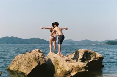 Caitlyn and Tahir, Daecheong Lake, Mid-Summer